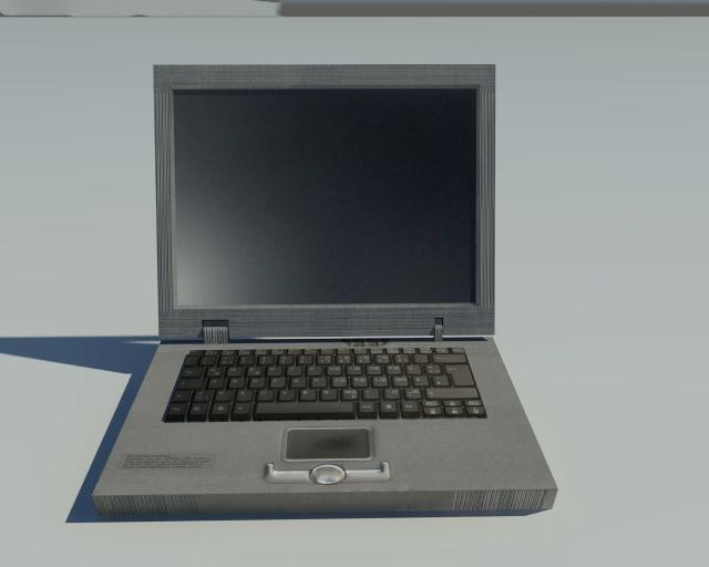 Low Poly old Laptop 3D model