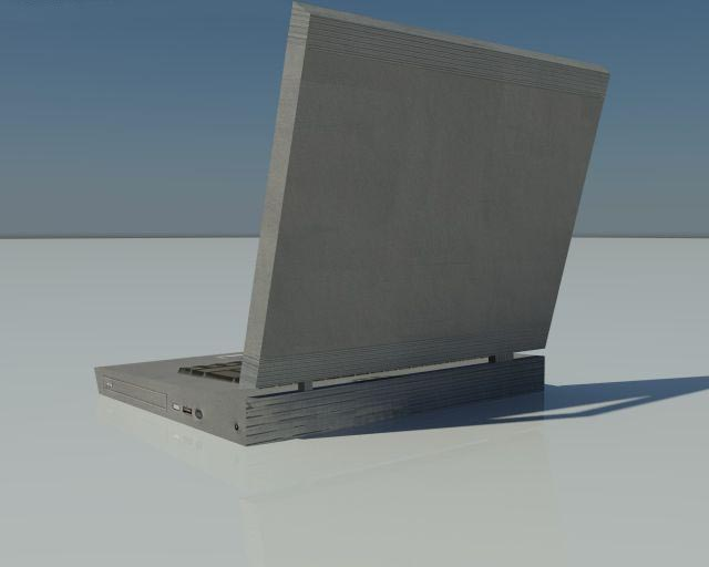 Low Poly old Laptop