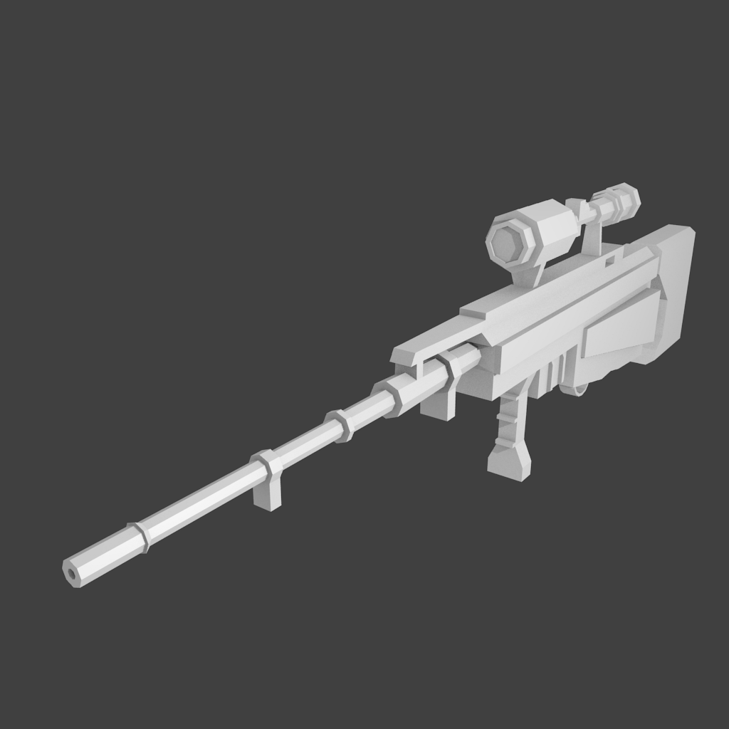 Lowpoly Sniper Rifle 3D model
