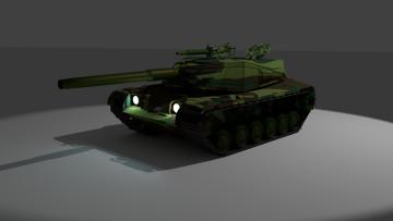 M60A3 American Tank 3D model
