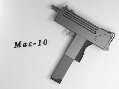 3D MAC-10 model