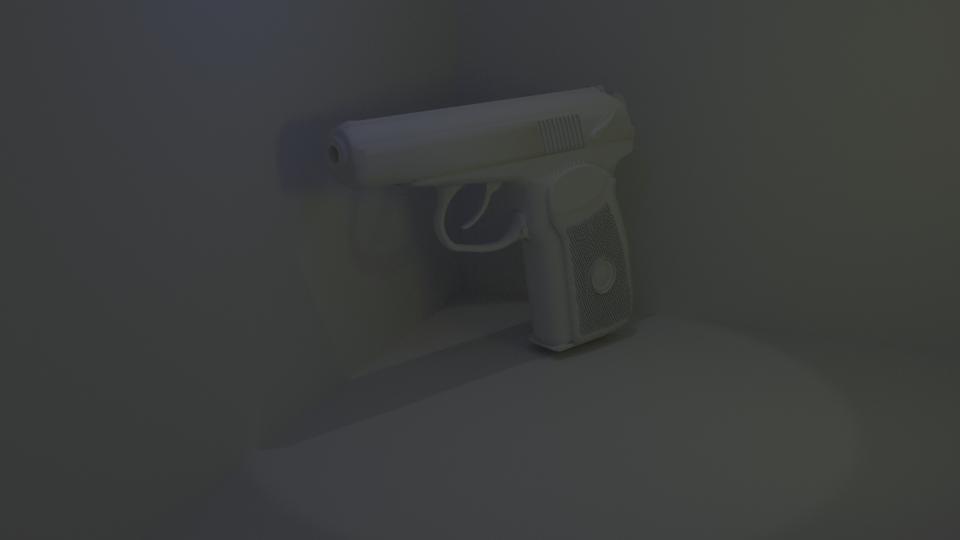 Makarov pistol 3D model
