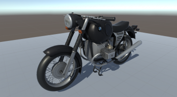 Motorcycle BMW 75 3D model