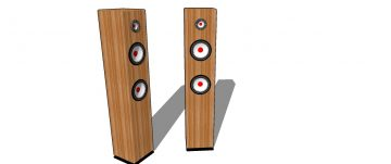 Musical speaker 3D model