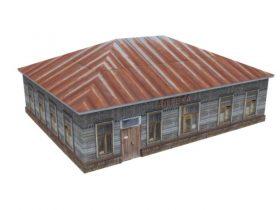 Old building drugstore 3D model