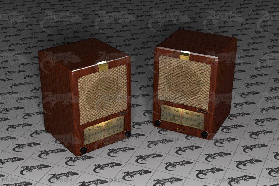 Old radio 3D model