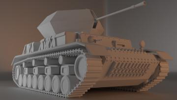 Ostwind Flakpanzer 3D model