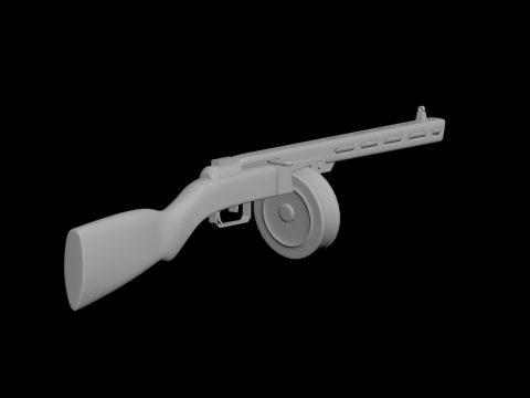 PPSh machine gun 3D model