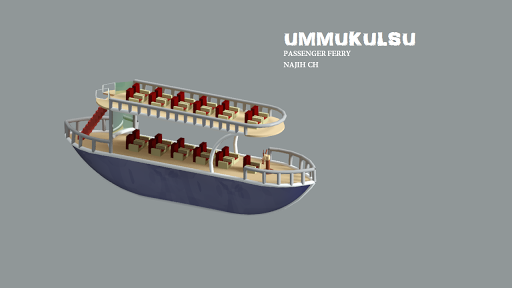 Passenger ferry ummukulsu 3D model