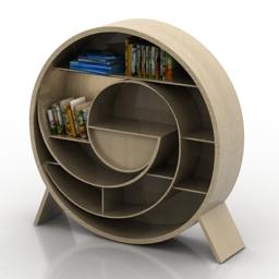 Rack book shelves 3d model
