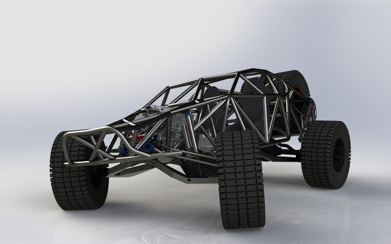 Rally fighter killer concept 3D model