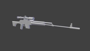 Sniper long 3D model