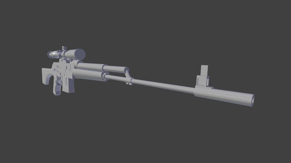 3D Sniper long model