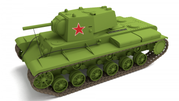 Soviet tank KV-1 model 1942 3D model