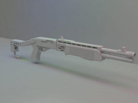 Spas-12 Shotgun 3D model