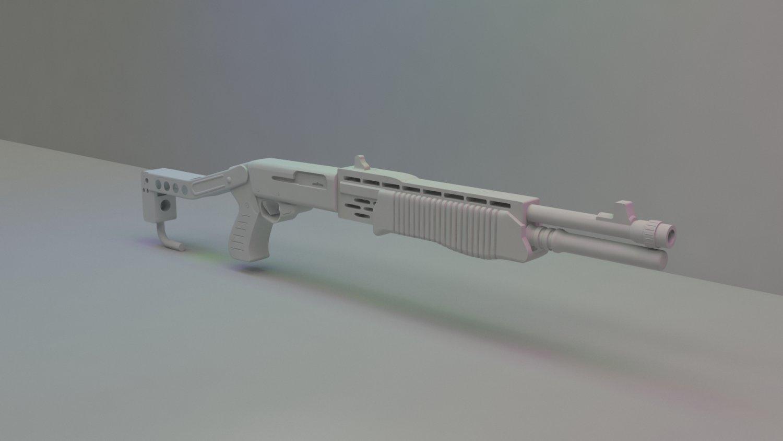 Spas 12 Shotgun Free 3d Models