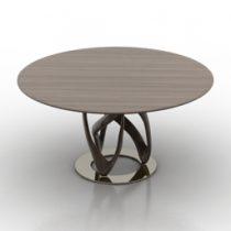 Table Porada Ifinity Tondo 3d model