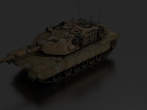 Tank Abrams 3D model