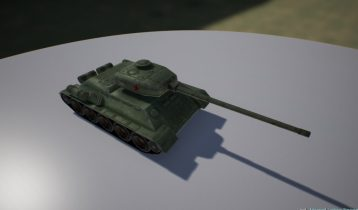Tank Low Poly 3D model