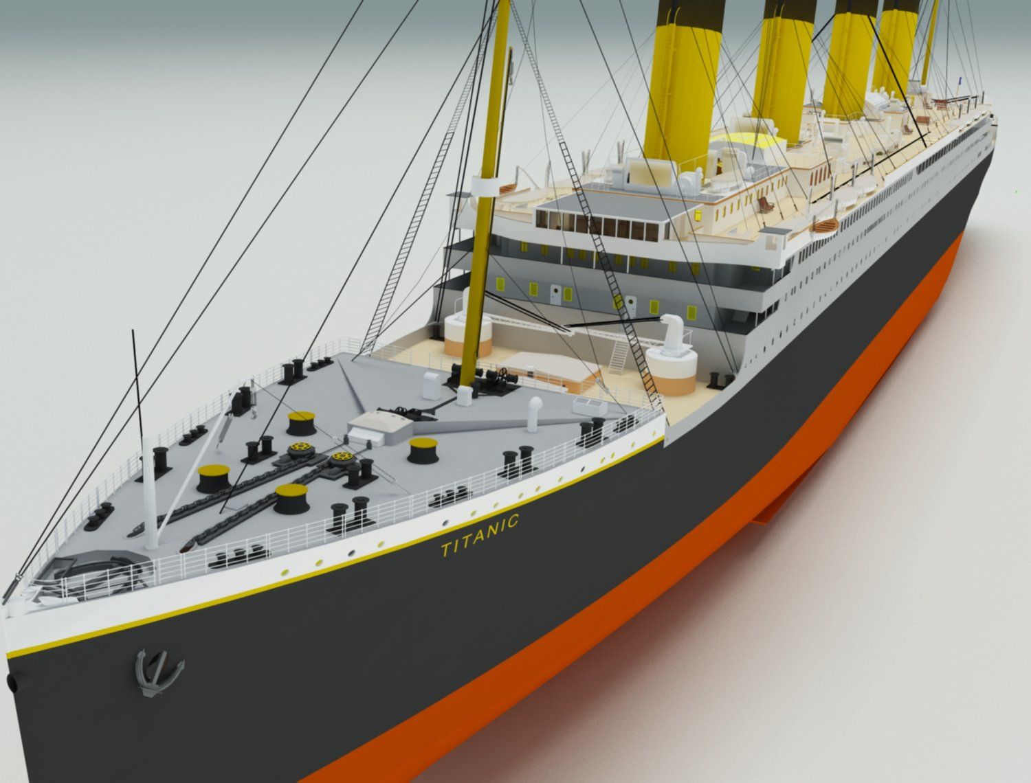 Titanic low poly 3D model