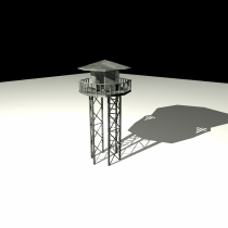 Vigilance tower 3D model