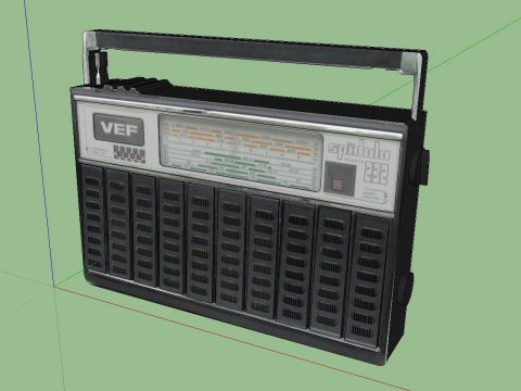 Vintage Radio - VEF Spidola 232 3D model