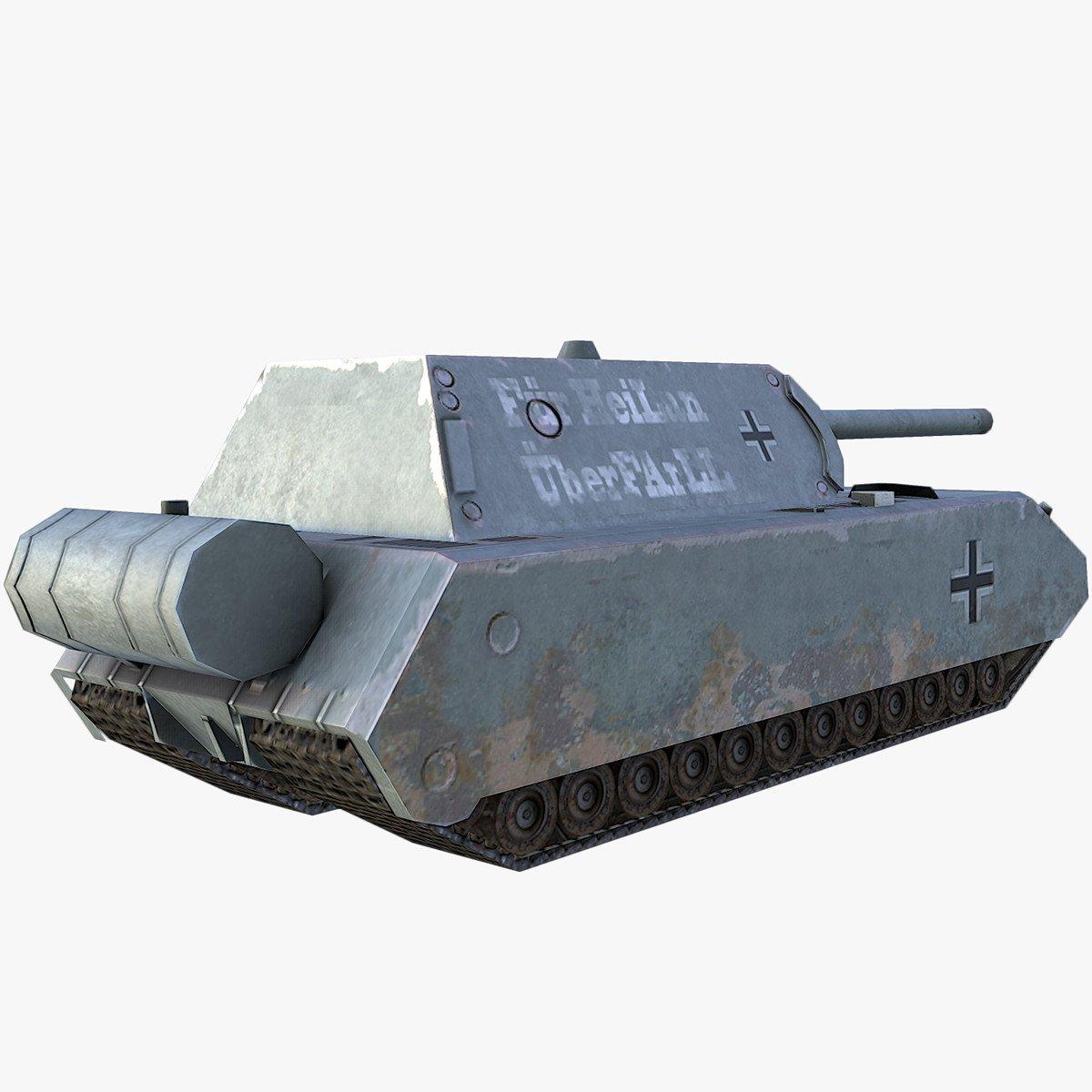 Ww2 Maus Tank Free 3d Models