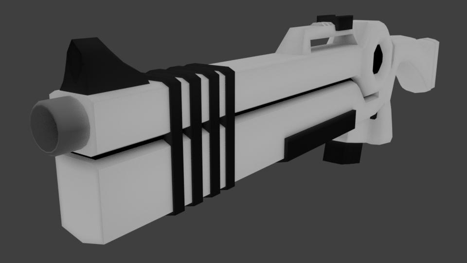 White Gun 3D model