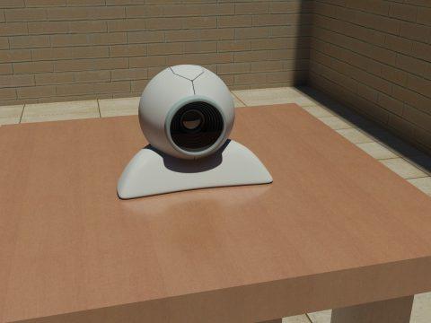 Wireless web camera 3D model
