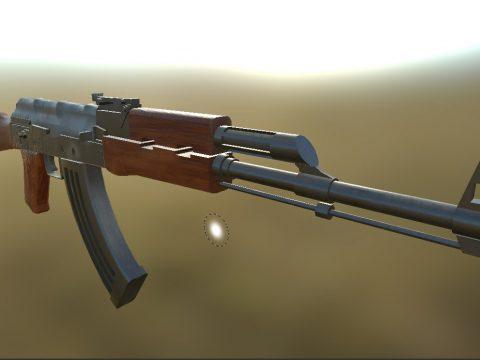 3D AK-M model