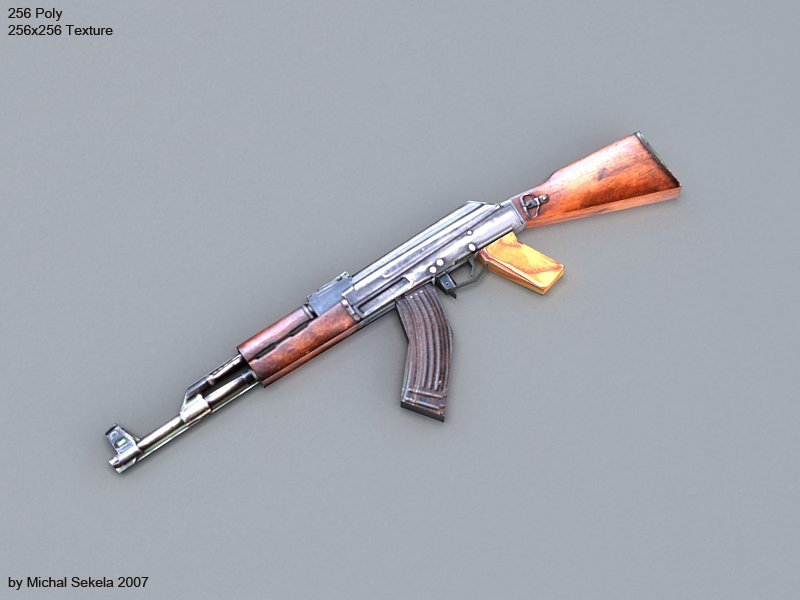 AK47 lowpoly 3D model