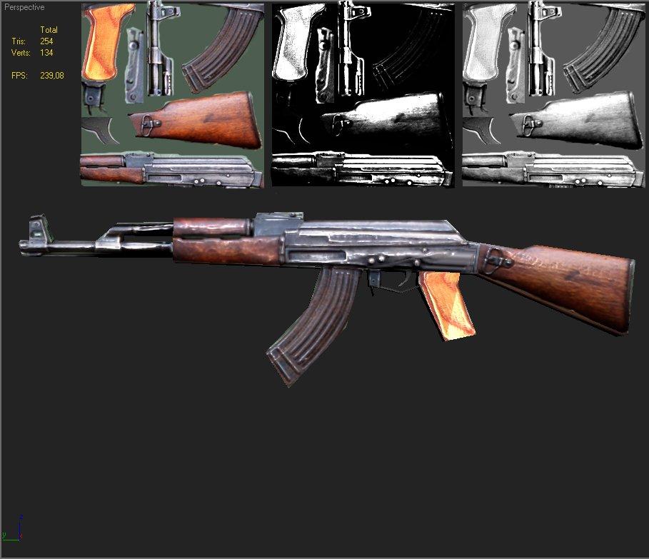 AK47 lowpoly