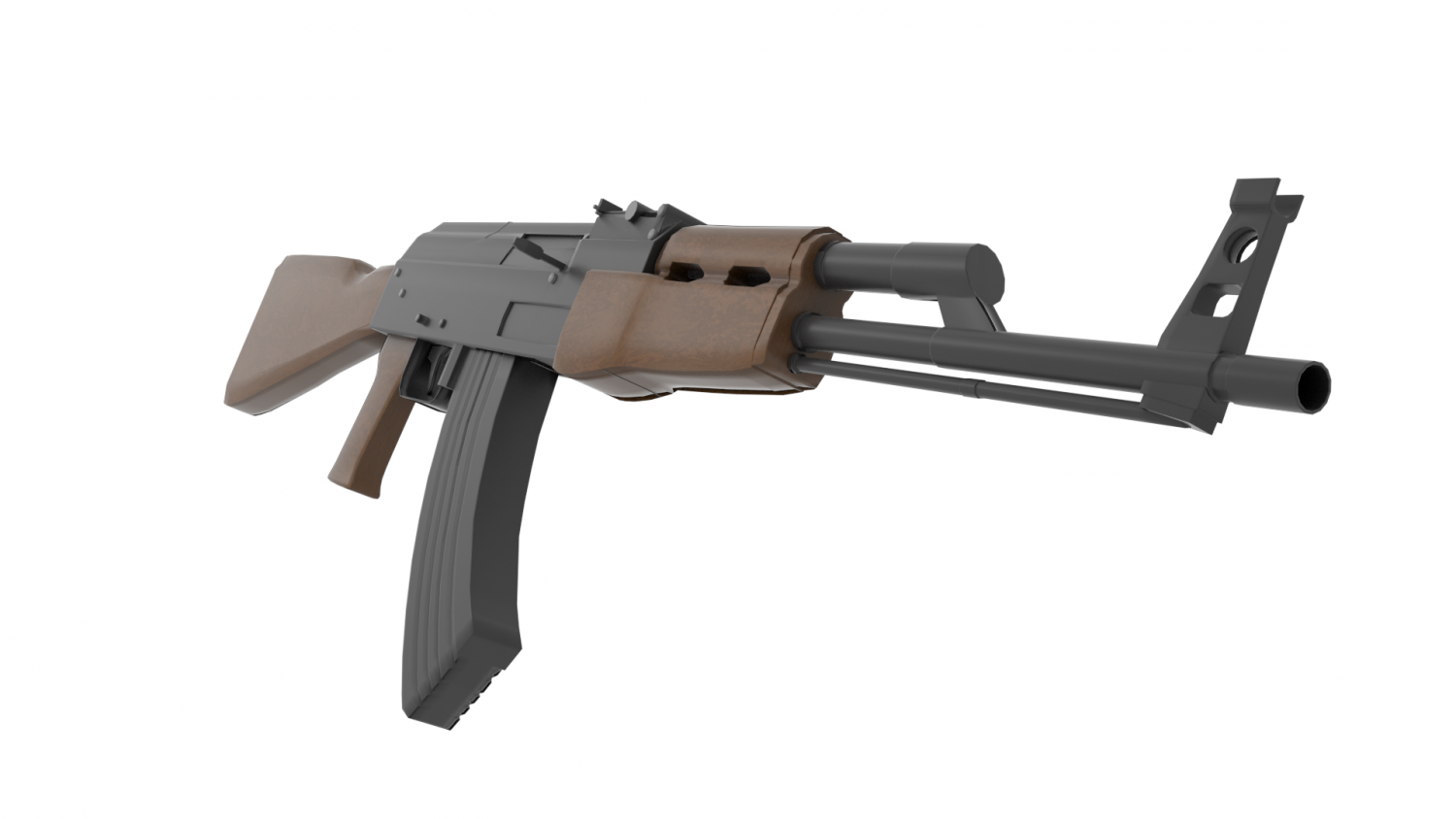 3d Model Of Ak 47 Gun – Dibujos Para Colorear