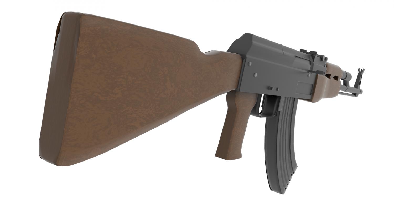 3D AK47 model