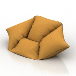 Armchair bag 3d model