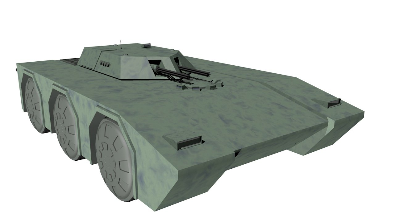 Armored car 3D model