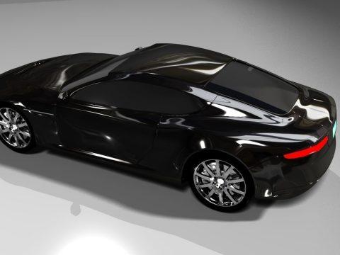 Aston Martin DB9 2017 3D model