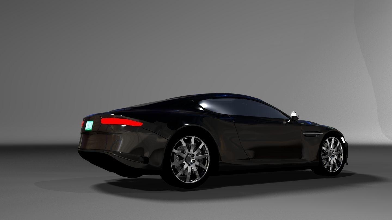 3D Aston Martin DB9 2017 model