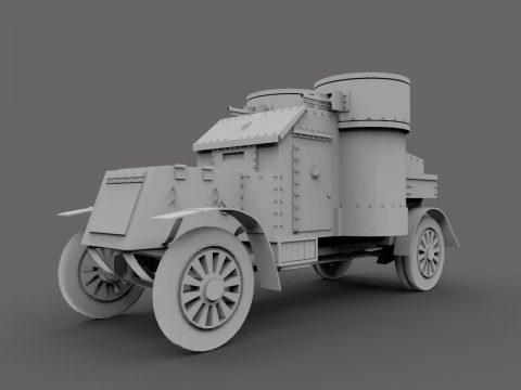 Austin armored car 3D model