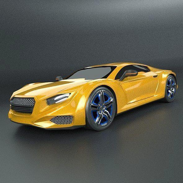 Averon GT concept car 3D model