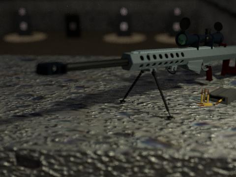 Barrett m82 sniper rifle 3D model