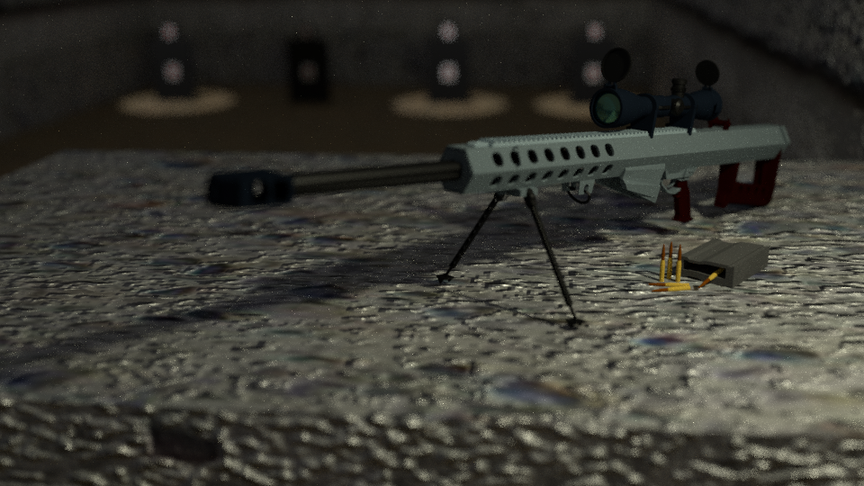 Barrett m82 sniper rifle 3D model