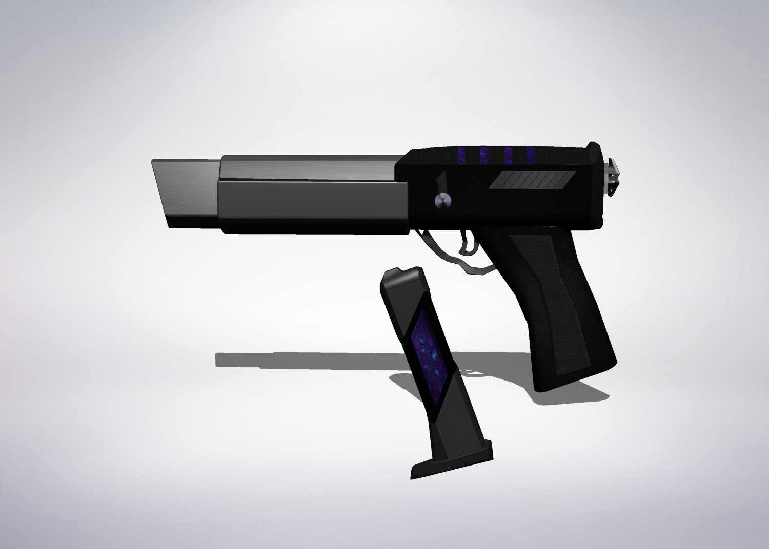 3D Black Plasma Gun model