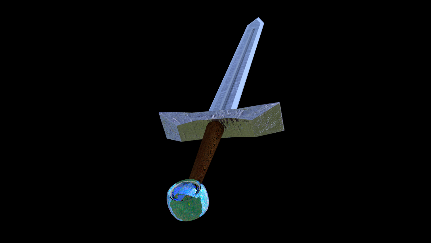 Blue Diamond Sword 3D model