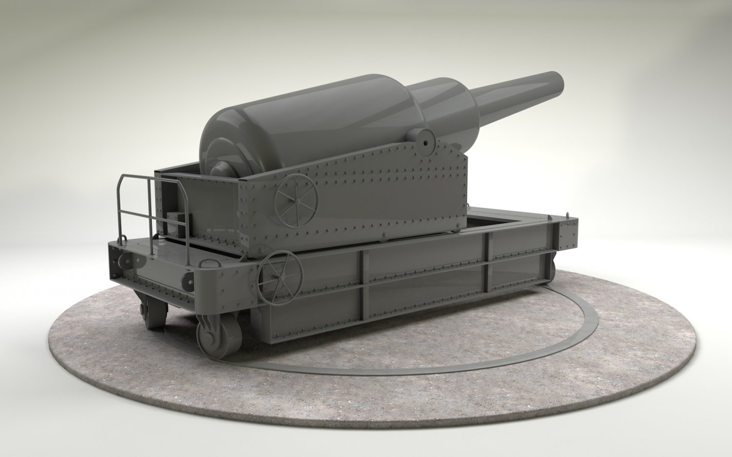 Cannon - RML 12-5 inch 38 Ton 3D model