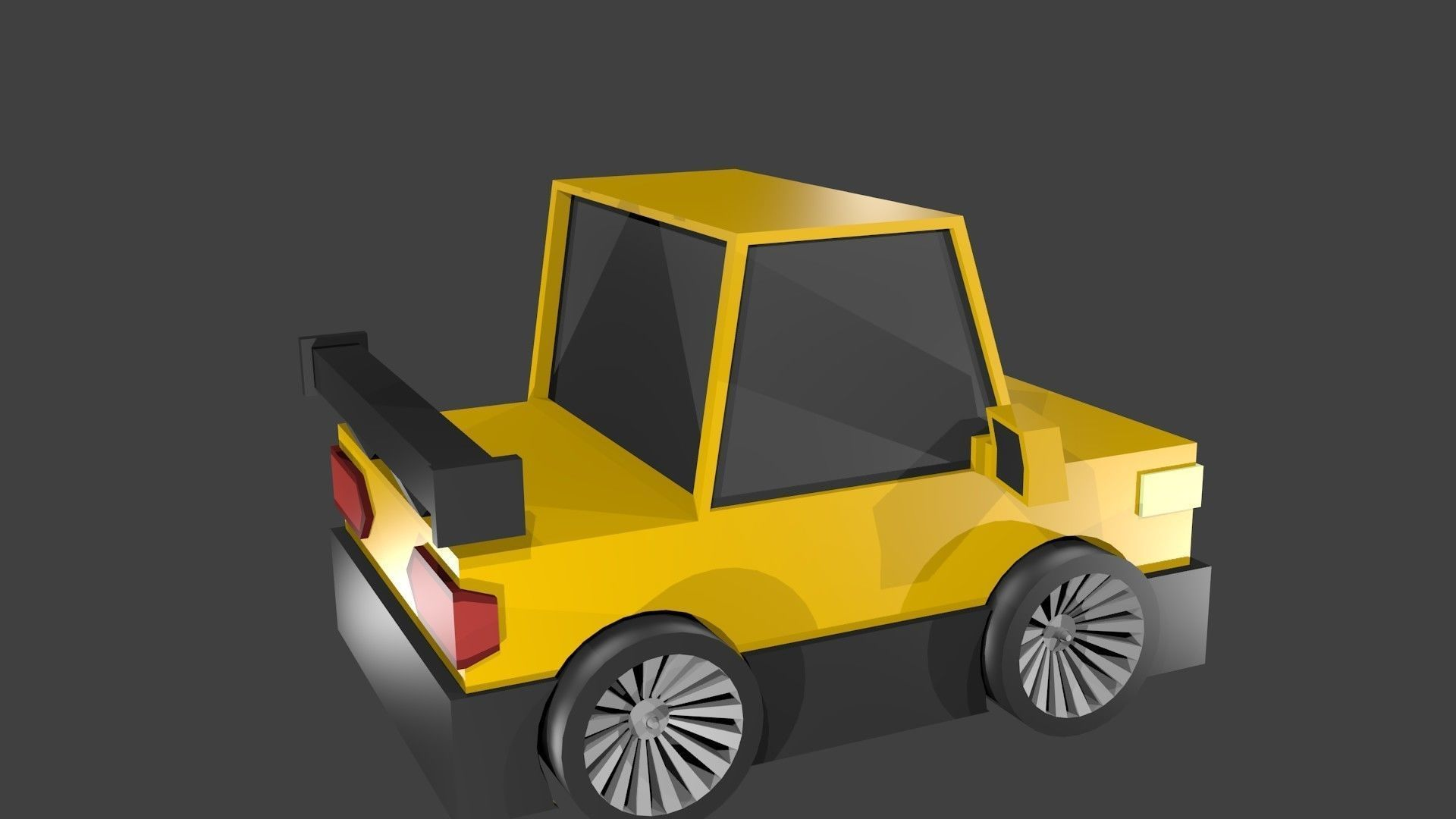 Car yellow low poly