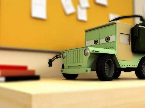 Cars 2 Sarge jeep 3D model