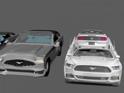 Cartoon Mustang 3D nidek