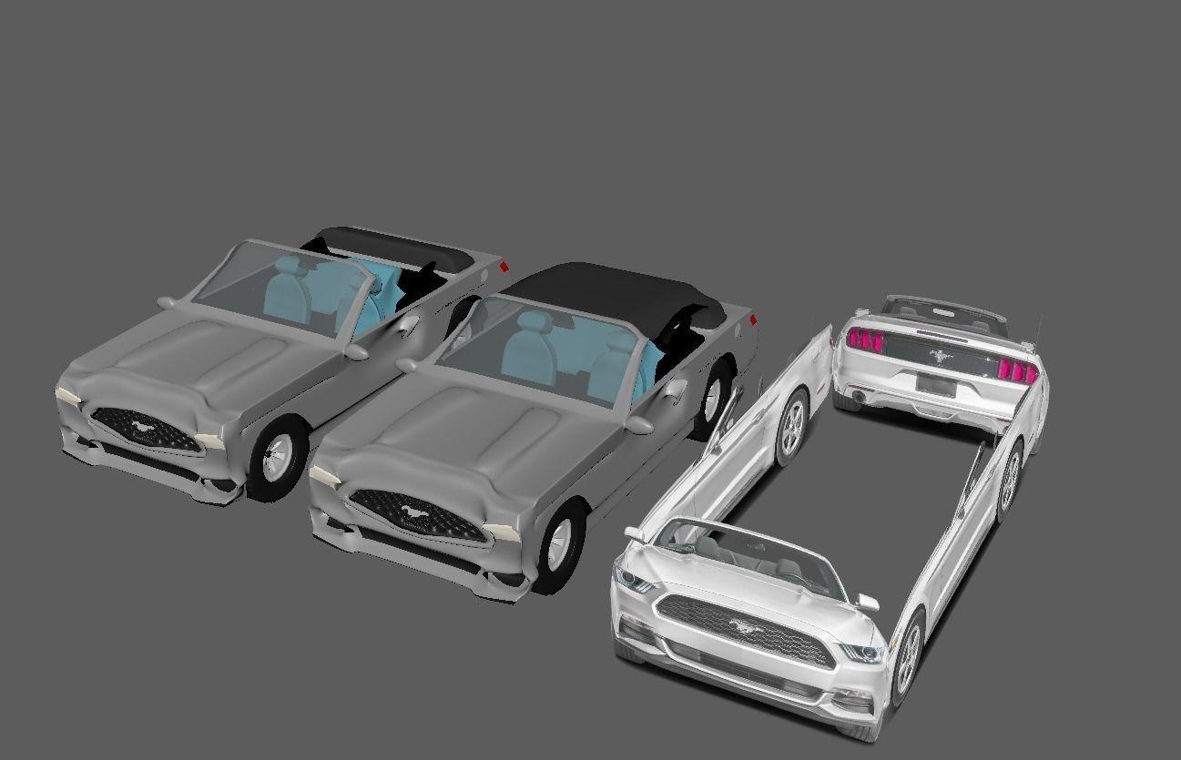 3D Cartoon Mustang  model