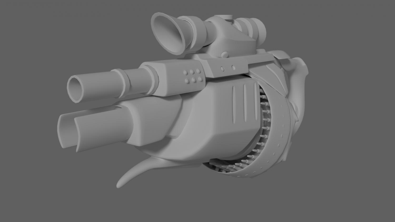 Concept rifle 3D model